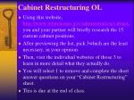 cabinet restructuring ol