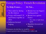 foreign policy french revolution