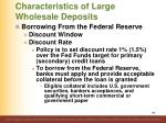 characteristics of large wholesale deposits10