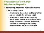 characteristics of large wholesale deposits13