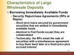 characteristics of large wholesale deposits7