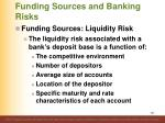 funding sources and banking risks1