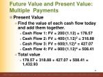 future value and present value multiple payments7