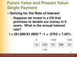 future value and present value single payment3