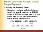 future value and present value single payment5
