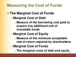 measuring the cost of funds1