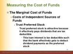measuring the cost of funds12