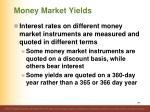 money market yields1