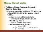 money market yields11