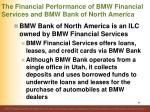 the financial performance of bmw financial services and bmw bank of north america1