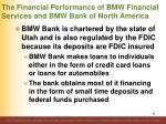 the financial performance of bmw financial services and bmw bank of north america2