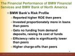 the financial performance of bmw financial services and bmw bank of north america3