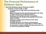 the financial performance of goldman sachs12