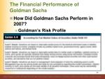 the financial performance of goldman sachs14