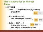 the mathematics of interest rates5