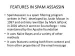 features in spam assassin