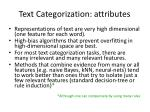 text categorization attributes