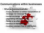 communications within businesses
