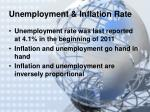 unemployment inflation rate
