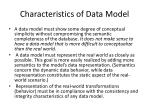 characteristics of data model
