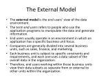 the external model