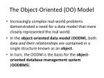 the object oriented oo model