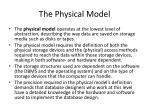 the physical model