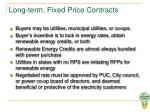 long term fixed price contracts