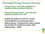 renewable energy revenue sources