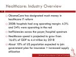 healthcare industry overview