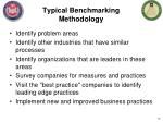 typical benchmarking methodology