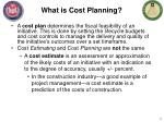 what is cost planning