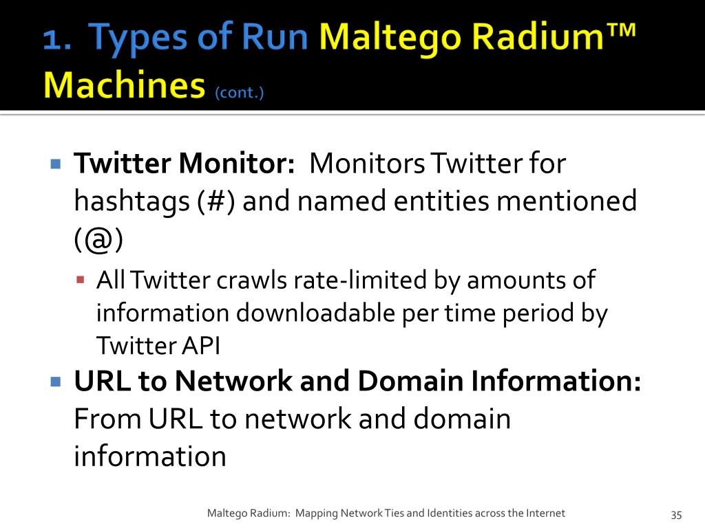 PPT - Maltego Radium™: Mapping Network Ties and Identities