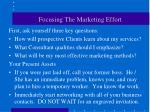 focusing the marketing effort