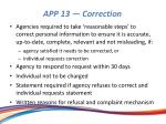 app 13 correction