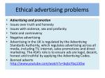 ethical advertising problems
