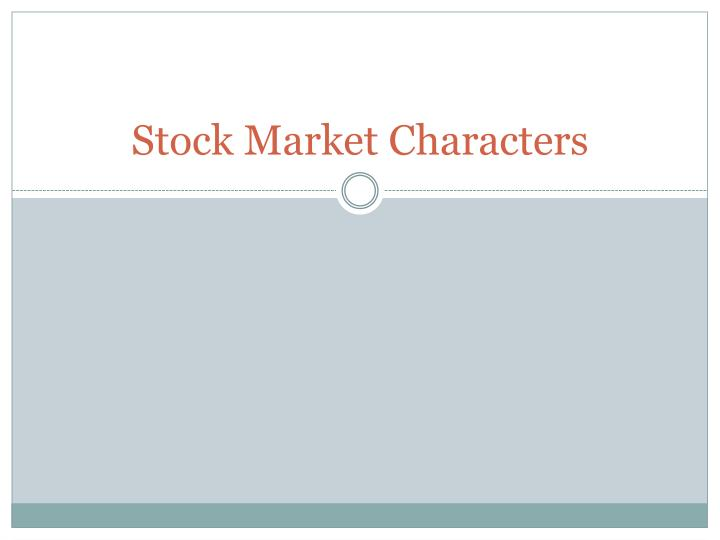 stock market characters n.
