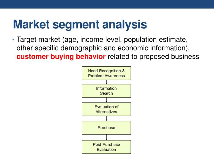 Market segment analysis