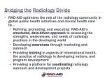 bridging the radiology divide