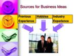 sources for business ideas