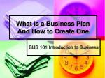 what is a business plan and how to create one