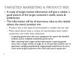 targeted marketing product mix