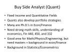 buy side analyst quant