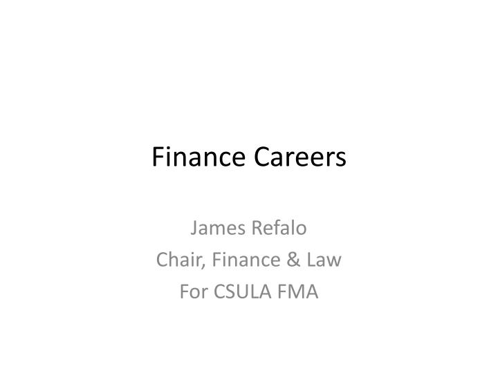 finance careers n.