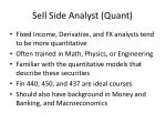 sell side analyst quant