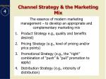 channel strategy the marketing mix