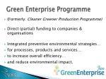 green enterprise programme
