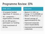 programme review epa