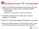 developing country fvc transformation