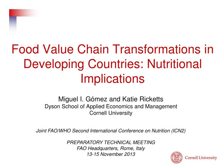 food value chain transformations in developing countries nutritional implications n.